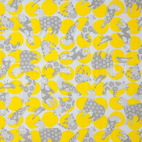 動物 Dots/黄色